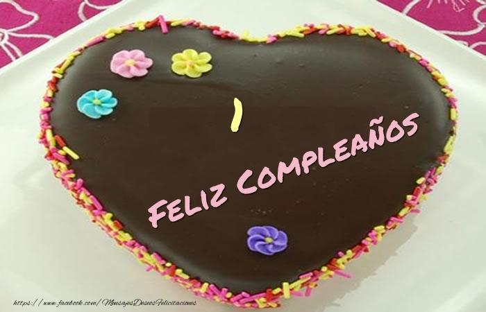 1 año Feliz Compleaños Tarta