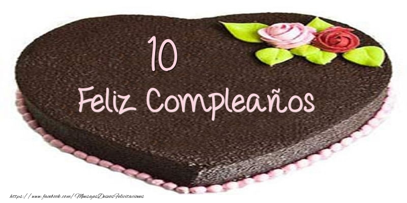 Tarta 10 años Feliz Compleaños