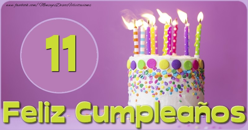 Feliz Cumpleaños 11 años