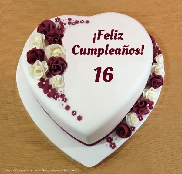 ¡Feliz Cumpleaños! - Tarta 16 años