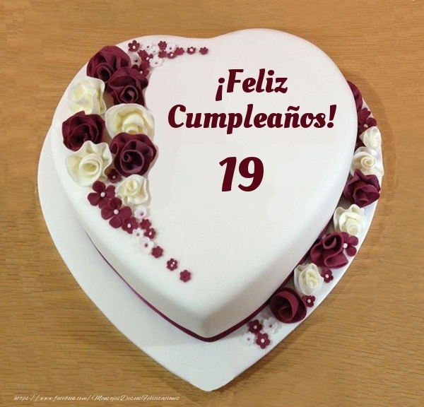 ¡Feliz Cumpleaños! - Tarta 19 años