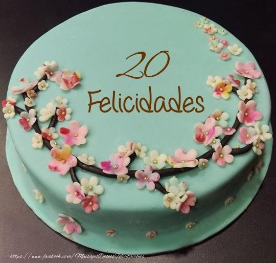 Felicidades- Tarta 20 años