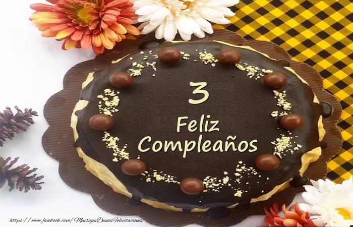 Tarta Feliz Compleaños 3 años