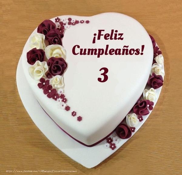 ¡Feliz Cumpleaños! - Tarta 3 años
