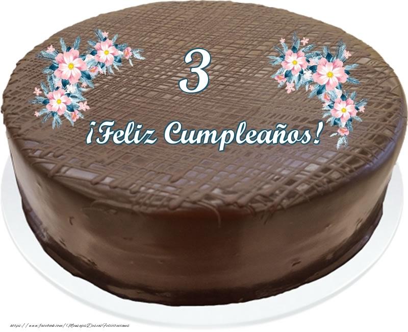 3 años ¡Feliz Cumpleaños! - Tarta
