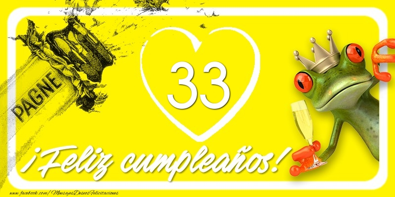 Feliz Cumpleaños, 33 años!