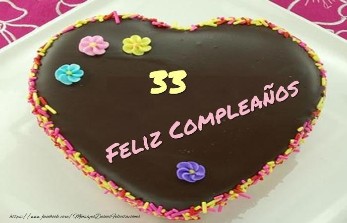 33 años Feliz Compleaños Tarta