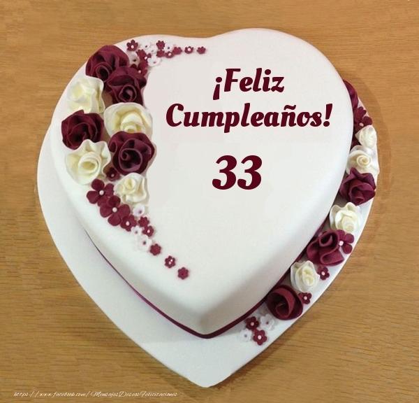 ¡Feliz Cumpleaños! - Tarta 33 años
