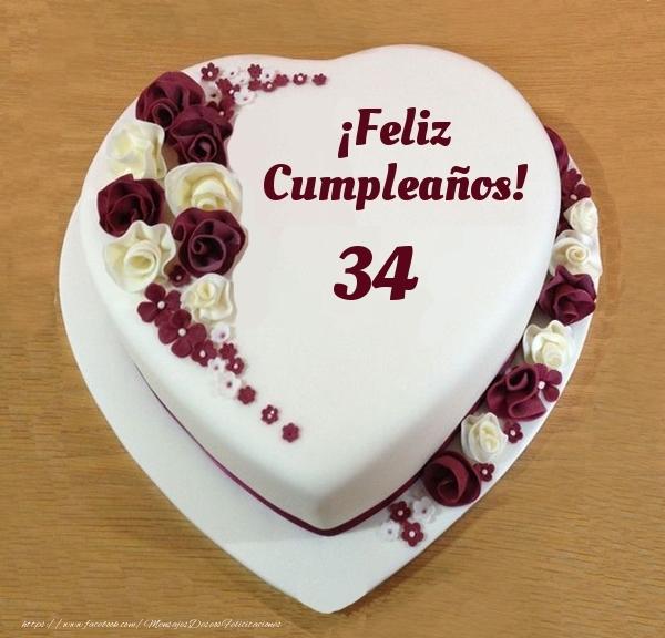 ¡Feliz Cumpleaños! - Tarta 34 años