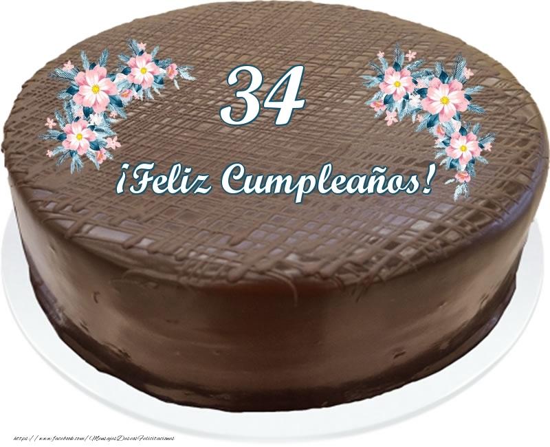 34 años ¡Feliz Cumpleaños! - Tarta