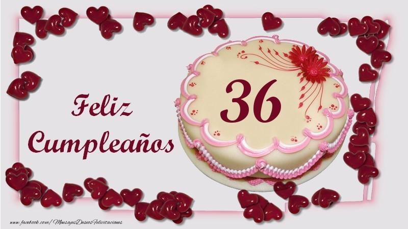 Feliz Cumpleaños 36 años