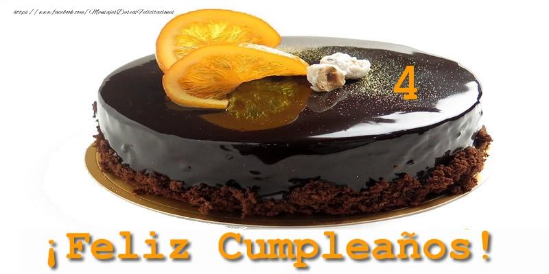 4 años ¡Feliz Cumpleaños!