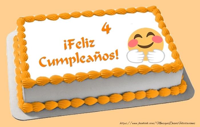 Tarta ¡Feliz Cumpleaños 4 años!