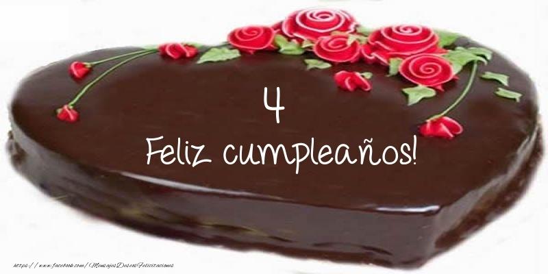 4 años Feliz cumpleaños!