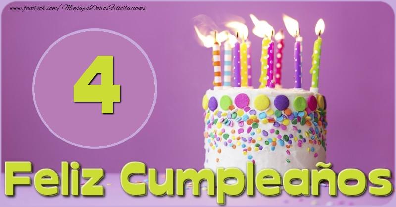 Feliz Cumpleaños 4 años