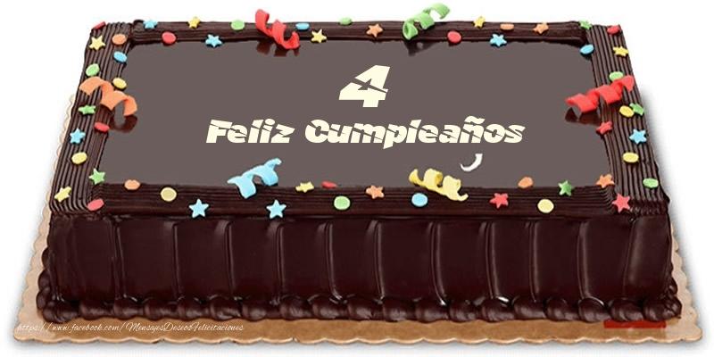 Tarta 4 años Feliz Compleaños