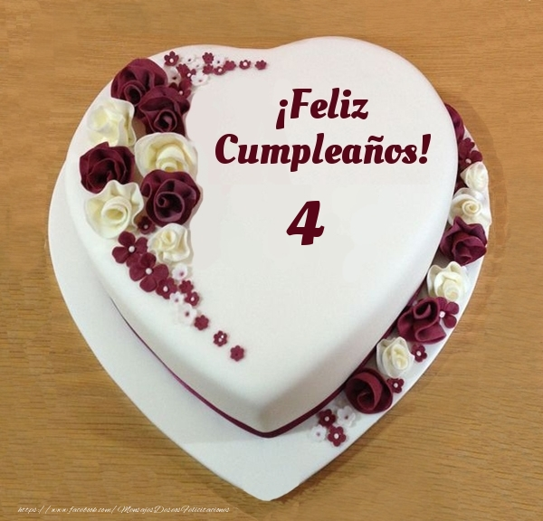 ¡Feliz Cumpleaños! - Tarta 4 años