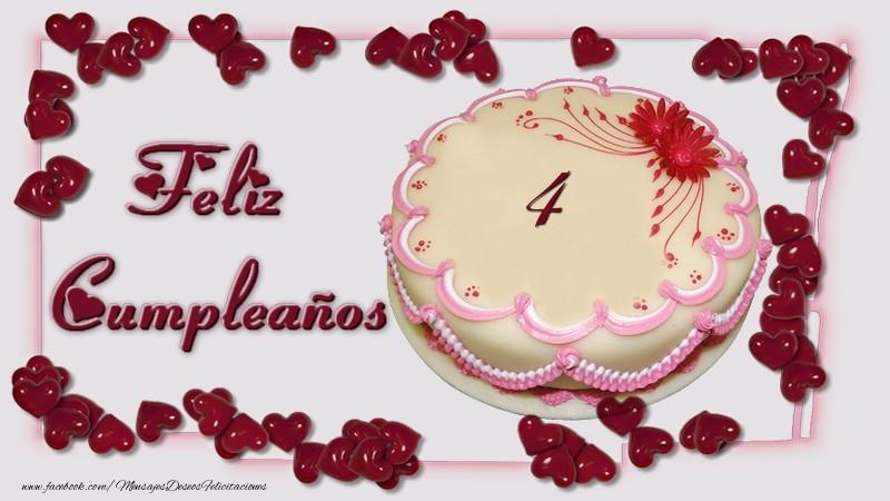 4 años Feliz Cumpleaños