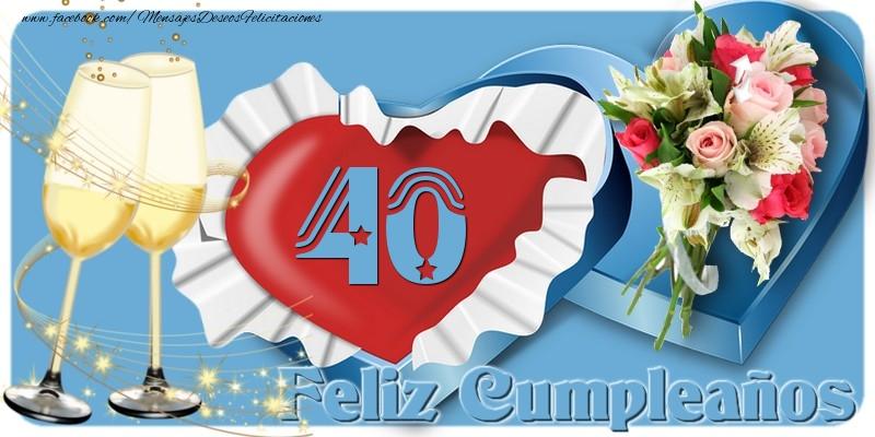 40 años Feliz Cumpleaños