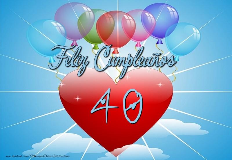 40 años, Feliz Cumpleaños