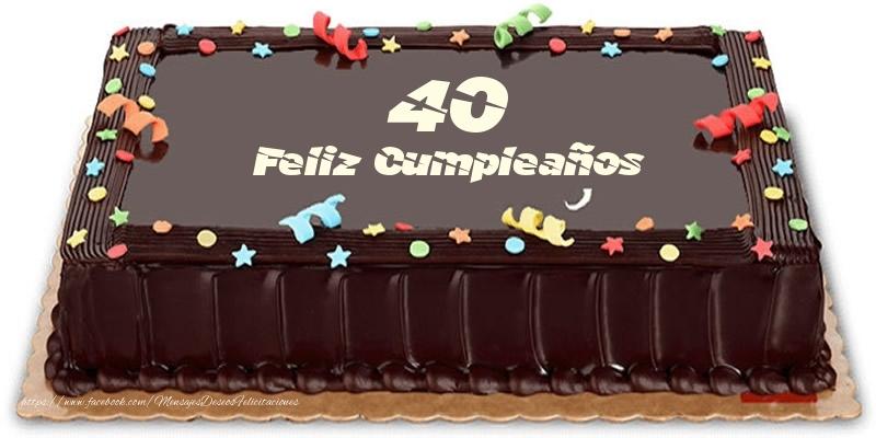 Tarta 40 años Feliz Compleaños