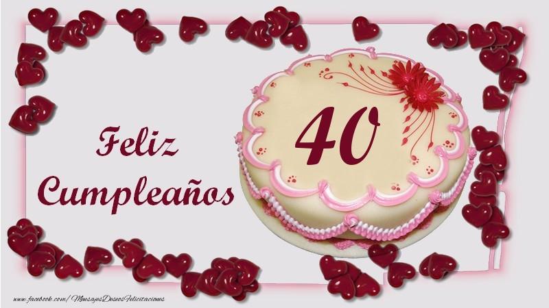 Feliz Cumpleaños 40 años