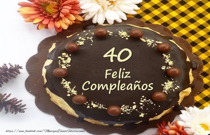 Tarta Feliz Compleaños 40 años
