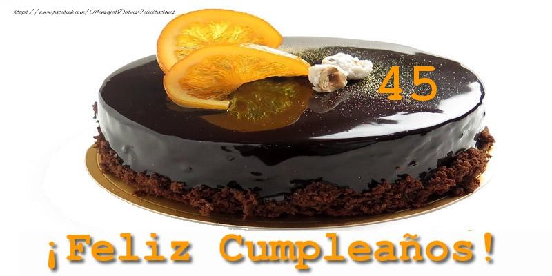 45 años ¡Feliz Cumpleaños!
