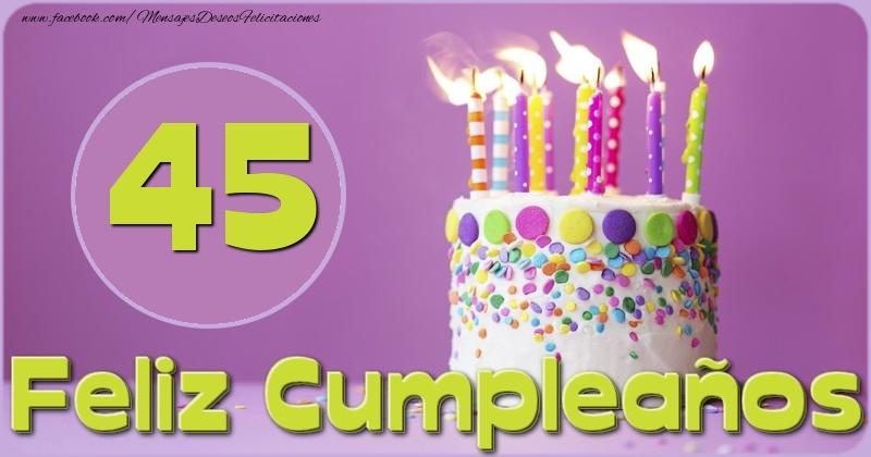 Feliz Cumpleaños 45 años