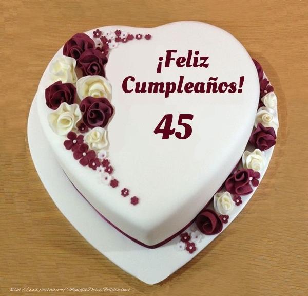 ¡Feliz Cumpleaños! - Tarta 45 años