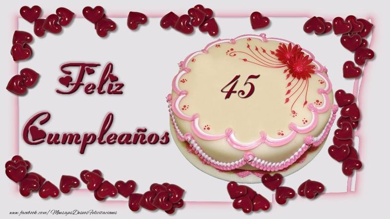 45 años Feliz Cumpleaños