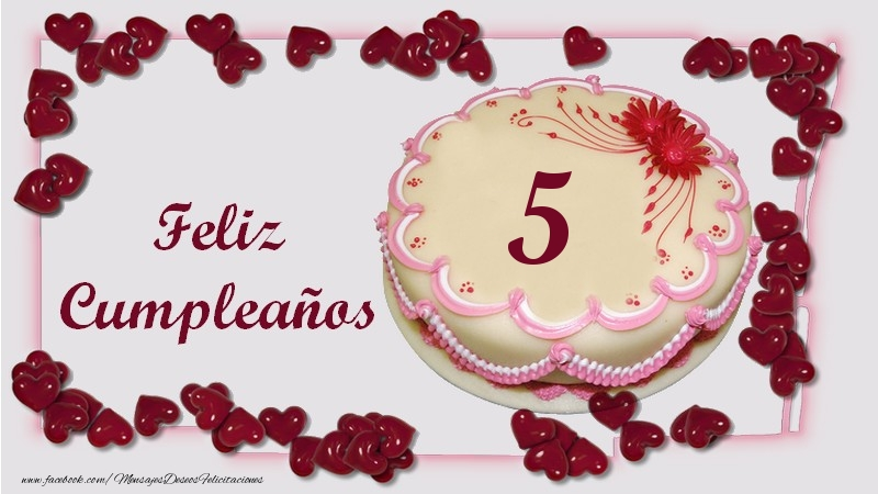 Feliz Cumpleaños 5 años