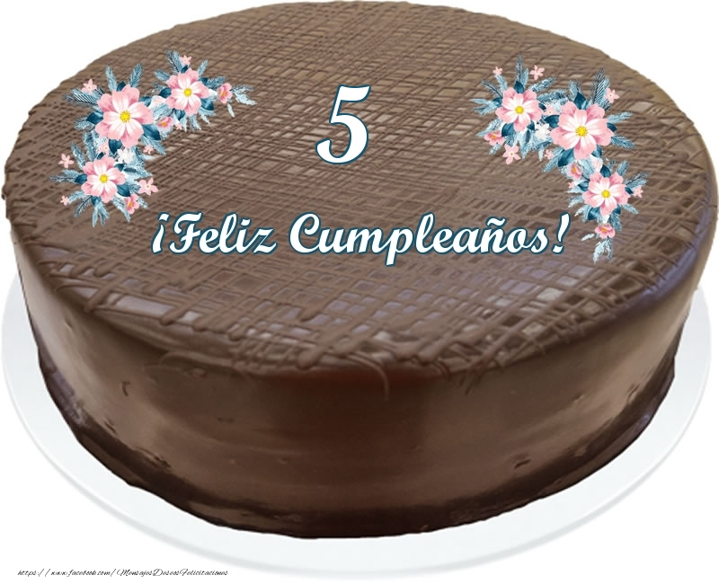 5 años ¡Feliz Cumpleaños! - Tarta