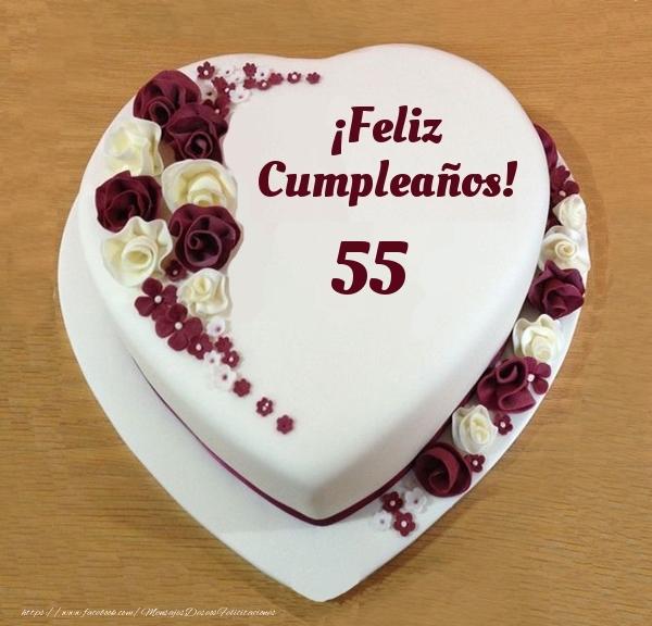 ¡Feliz Cumpleaños! - Tarta 55 años