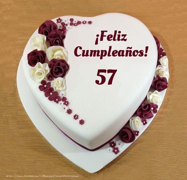 ¡Feliz Cumpleaños! - Tarta 57 años