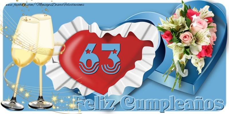63 años Feliz Cumpleaños