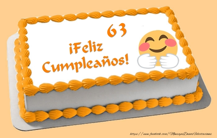 Tarta ¡Feliz Cumpleaños 63 años!