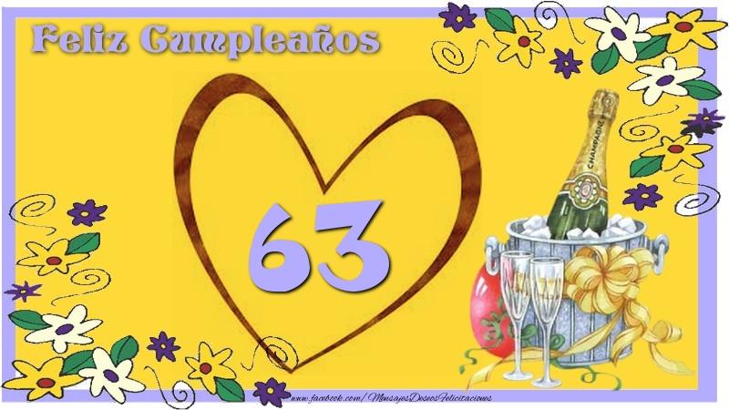 Feliz Cumpleaños 63 años