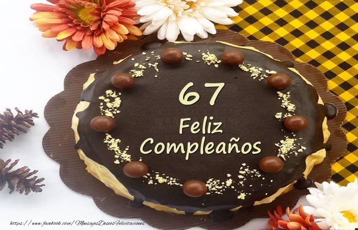 Tarta Feliz Compleaños 67 años