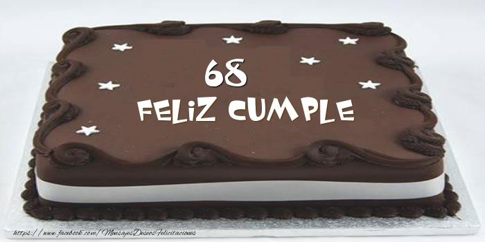 Tarta Feliz cumple 68 años