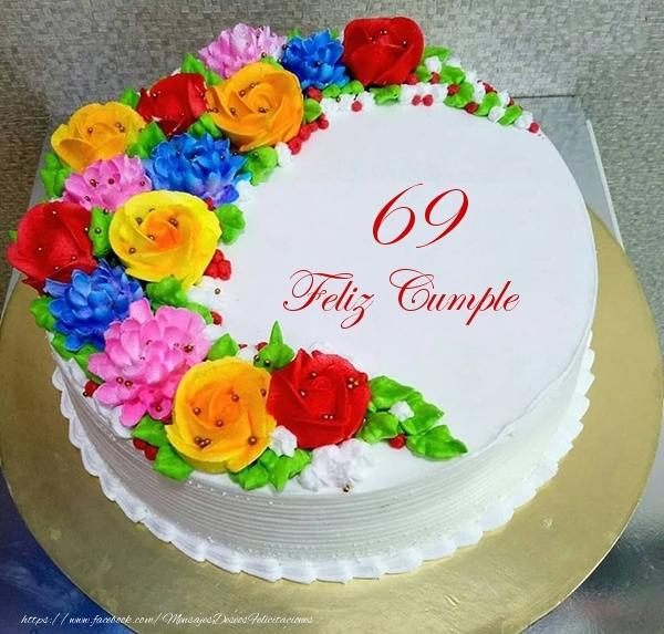 69 años Feliz Cumple- Tarta