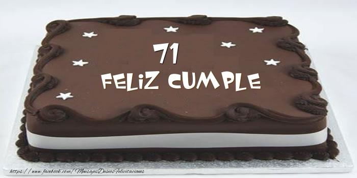 Tarta Feliz cumple 71 años