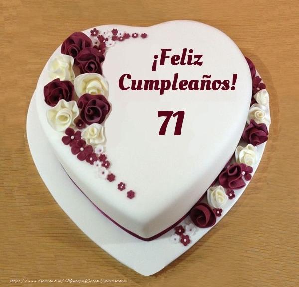 ¡Feliz Cumpleaños! - Tarta 71 años