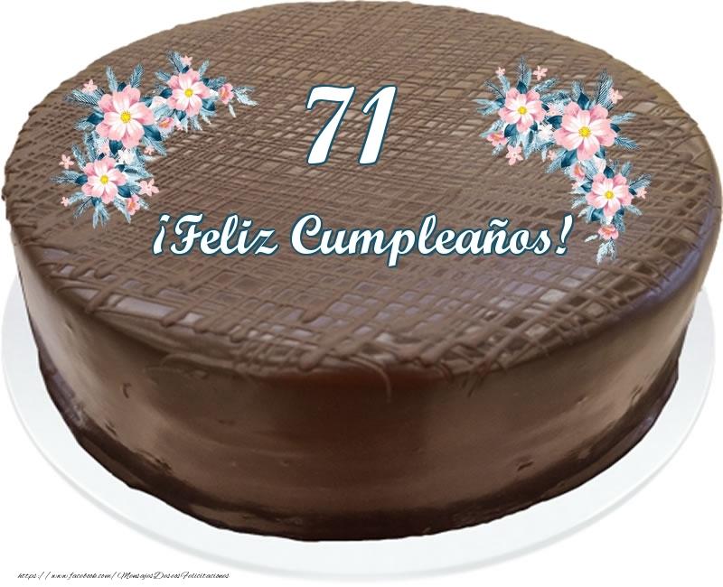 71 años ¡Feliz Cumpleaños! - Tarta