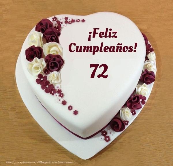 ¡Feliz Cumpleaños! - Tarta 72 años