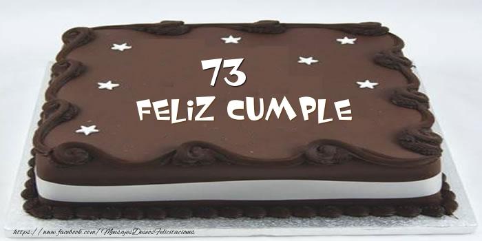 Tarta Feliz cumple 73 años