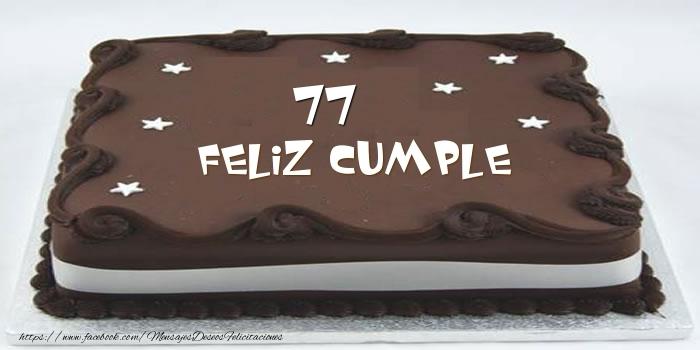 Tarta Feliz cumple 77 años