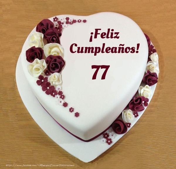 ¡Feliz Cumpleaños! - Tarta 77 años