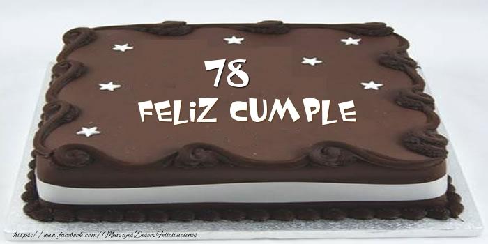 Tarta Feliz cumple 78 años