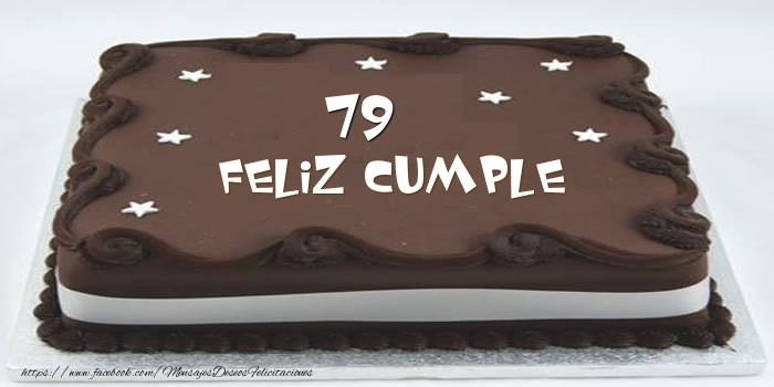 Tarta Feliz cumple 79 años